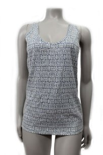 J.Crew Sleeveless Sequin Top white gray
