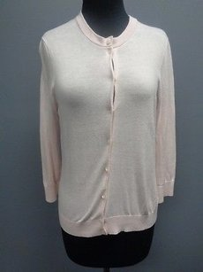 J.Crew Crew Light Cotton Blend Button Front Cardigan Sma5219 Sweater
