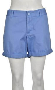 J.Crew Womens Casual Distressed Solid Shorts Blue