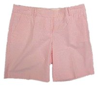 J.Crew Casual Shorts Pink & White