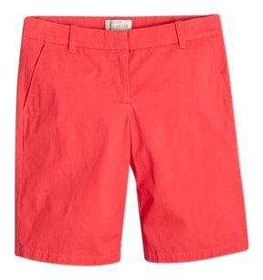 J.Crew Preppy Bermuda Shorts Red