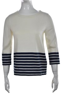 J.Crew Womens Crewneck Striped Cotton Sweater