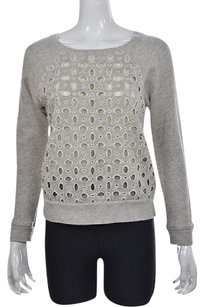 J.Crew Womens Gray Crewneck Speckled Long Sleeve Sweater