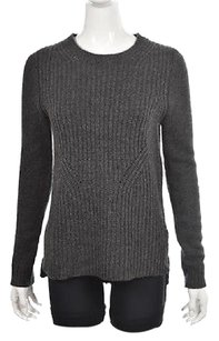 J.Crew Womens Charcoal Crew Neck Wool Long Sleeve Sweater