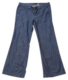 J.Crew Denim Preppy Classic Trouser/Wide Leg Jeans-Dark Rinse
