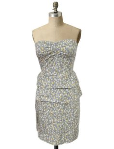 J.Crew short dress Multi-Color Strapless Tiered Cotton Sweetheart Neckline Printed Cocktail 0 on Tradesy