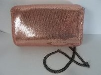 J.Crew Factory Sequin Evening Pink Clutch