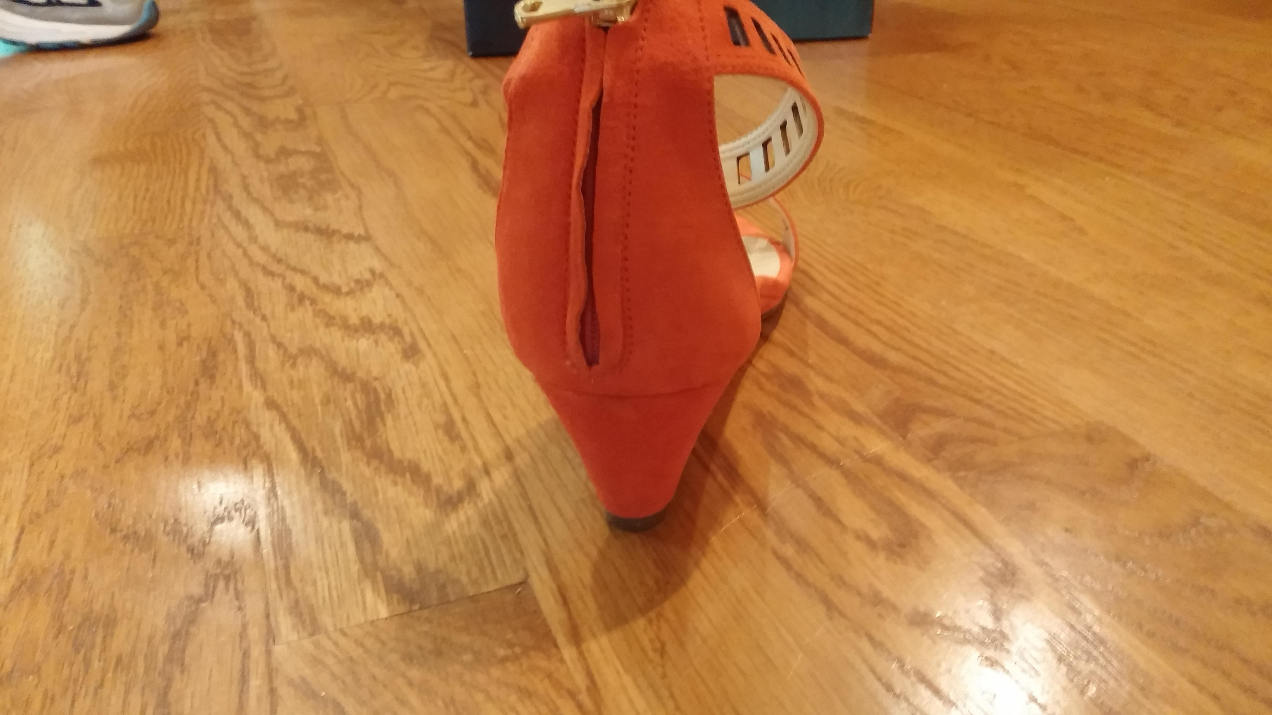 ff6cdcd605a ... J.Crew Fresh Strawberry Lillian Suede Lattice Low Wedges Wedges Wedges  Sandals Size US 9 ...