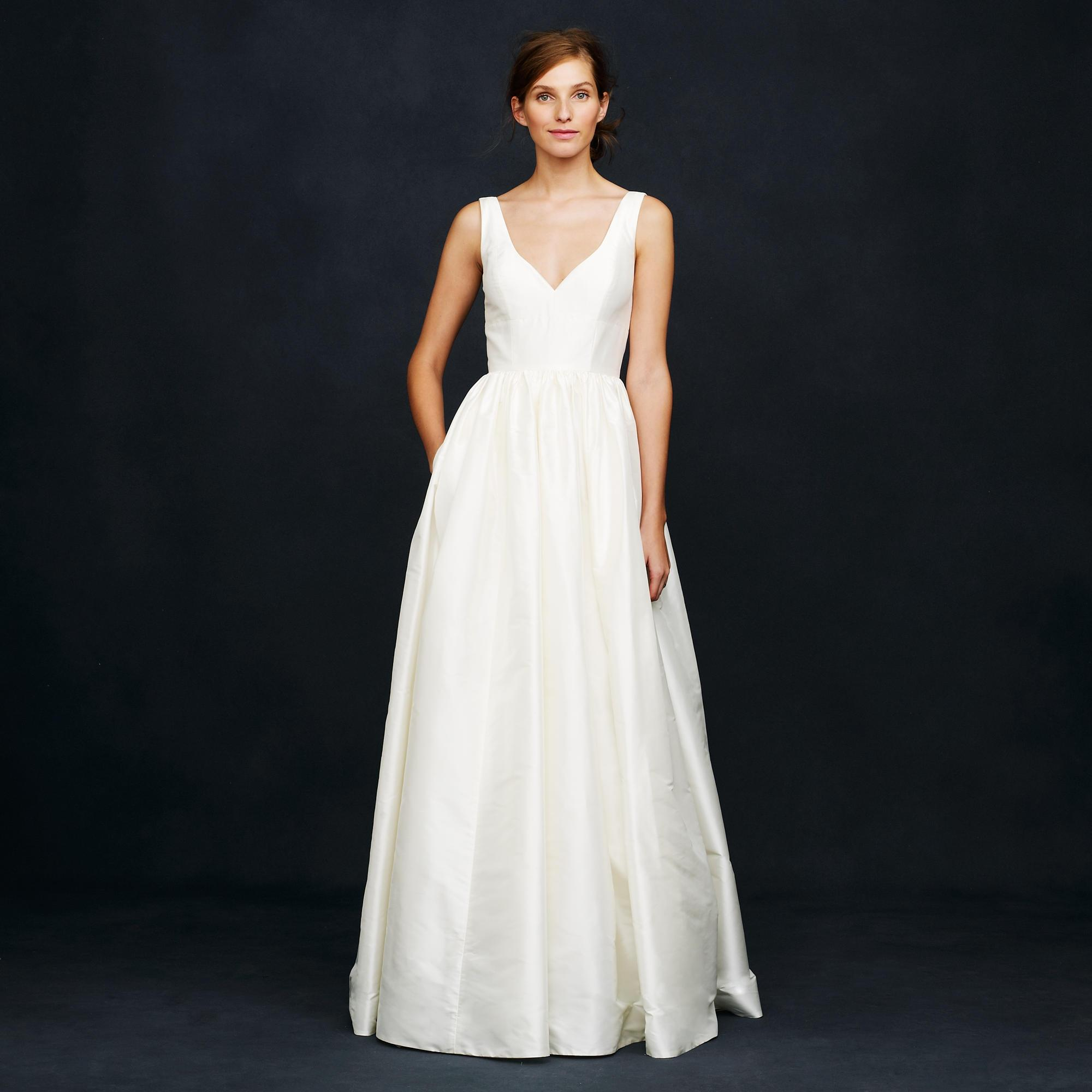 Superb J.Crew Ivory Silk Karlie Wedding Dress Size 0 (XS) ...