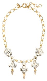 J.Crew J. Crew Crystal and Pearl Chandelier Necklace