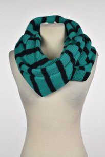 J.Crew J Crew Womens Green Striped Infinity Scarf One Wool Casual