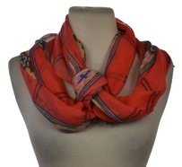 J.Crew J Crew Womens Red Printed Scarf Os Cotton Casual