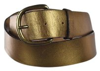 J.Crew J Crew Womens Gold Width Belt Metallic Leather Casual