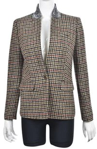 J.Crew J Crew Womens Brown Blazer Wool Wtw Textured Houndstooth Jacket