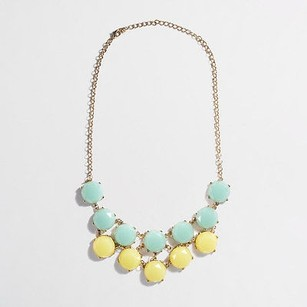 J.Crew J.crew Green Yellow Tiered Stone Bib Necklace Style 03045 Lot Of Piece