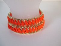 J.Crew J.crew White Orange Braided Gold Friendship Bracelet Set Of Each