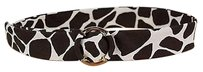J.Crew J.crew Womens Black Animal Print Belt Sm 100 Cotton
