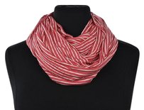 J.Crew J Crew Womens Coral Pink Infinity Scarf Os Striped Casual