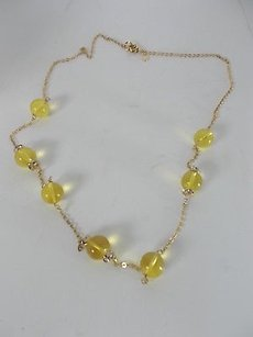 J.Crew J.crew Yellow Bauble Crstyal Ring Layering Necklace Set Of