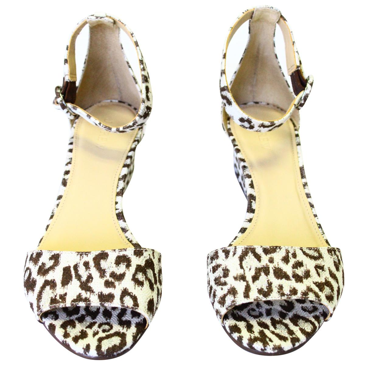 88087074b6bb J.Crew J.Crew J.Crew Leopard Print Pre-owned Laila In Wedges Size US 9  8830fe