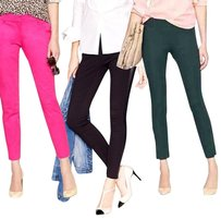 J.Crew Lot Capri Cropped Skinny Skinny Pants Green Black Fucshia