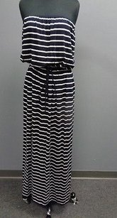 Navy And White Maxi Dress by J.Crew J Crew Striped