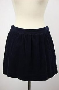 J.Crew Womens Corduroy Mini Casual Above Knee Mini Skirt Blue