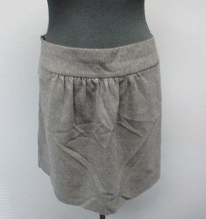 J.Crew Charcoal Wool Blend Lined Casual Pleat Front Mini 2374 Mini Skirt Gray