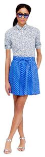 J.Crew Mini Skirt Blue & White