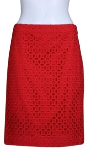 J.Crew J Crew No Pencil Womens Skirt Red