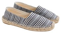 J.Crew Plaid Espadrille Light Blue/Navy Blue Flats