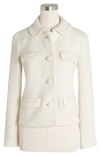 J.Crew Preppy Classic Tweed IVORY WHITE CREAM Jacket