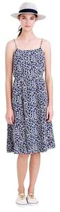 J.Crew short dress BLUE FLORAL NAVY Preppy Classic on Tradesy