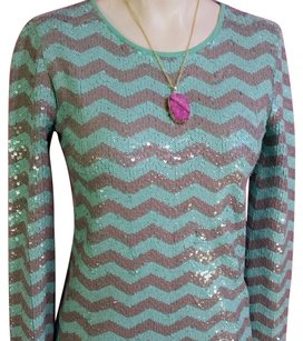 J.Crew Sequin Sparkle Chevron Evening Limited Edition Top Chevron sequin