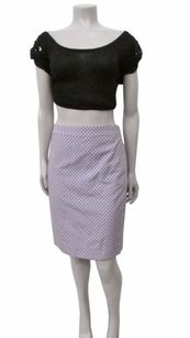 J.Crew Style C2053 Pencil In Jacquard Dot Skirt Blue
