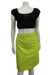 J.Crew Pencil In Circle Eyelet Skirt Bright Green
