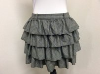 J.Crew J Crew Wool Plaid Skirt Gray