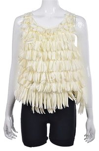 J.Crew Collection Womens Silk Sleeveless Casual Shirt Top Ivory