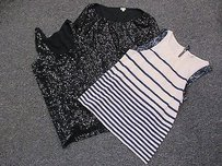 J.Crew Crew Lot Of Black Long Sleeve Top Multi-Color