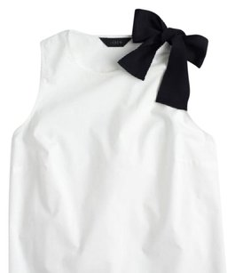 J.Crew Top white with black bow