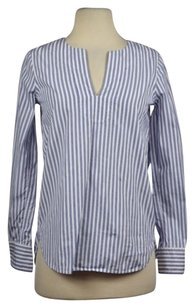 J.Crew Womens Striped 000 Striped Casual Shirt Blouse Tunic