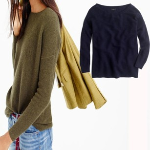 J.Crew Ribbed Boat Neck Tunic Sweater