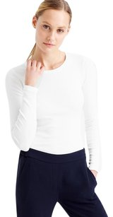 J.Crew Longsleeve Cotton Classic Preppy T Shirt WHITE