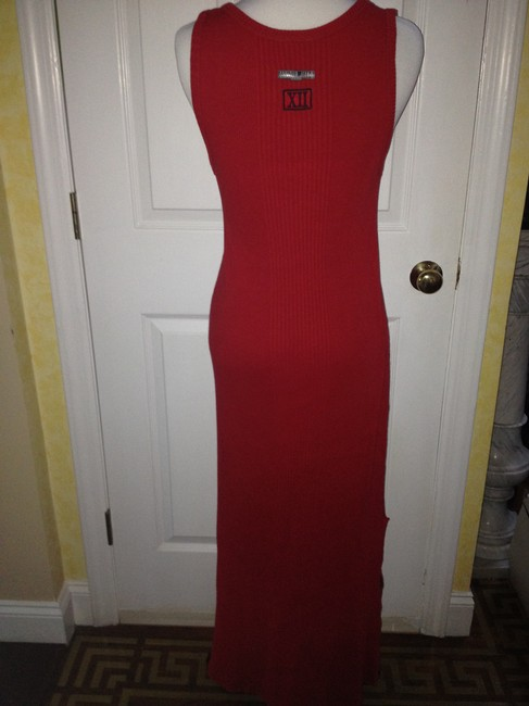 RED Maxi Dress by Jean-Paul Gaultier Cotton Fun Chic Designer