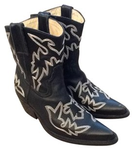 Jeffrey Campbell Cowboy Western Black Boots