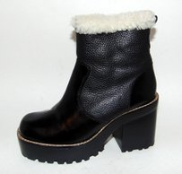 Jeffrey Campbell Shearling Black Boots