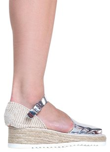 Jeffrey Campbell Silver Platforms