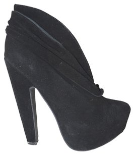 Jeffrey Campbell Suede Leather Black Boots