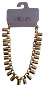 Jennifer Lopez GOLD TONE COLLAR NECKLACE