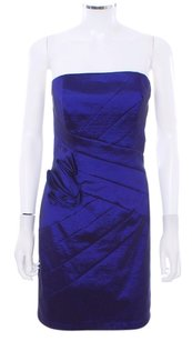 Jessica McClintock Party Strapless Mini Royal Dress